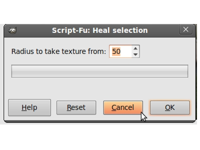 Gimp Resynthesizer Heal Selection Menu