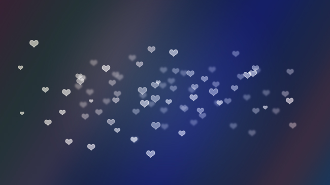 Hearts Bokeh Wallpaper