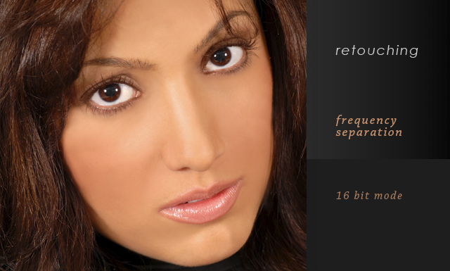 Frequency Separation Retouching in 16 Bit Mode