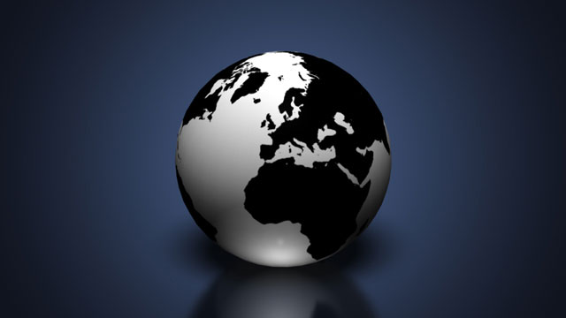 3D Earth Globe in Photoshop CS6
