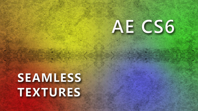 Seamless Textures in After Effects CS6
