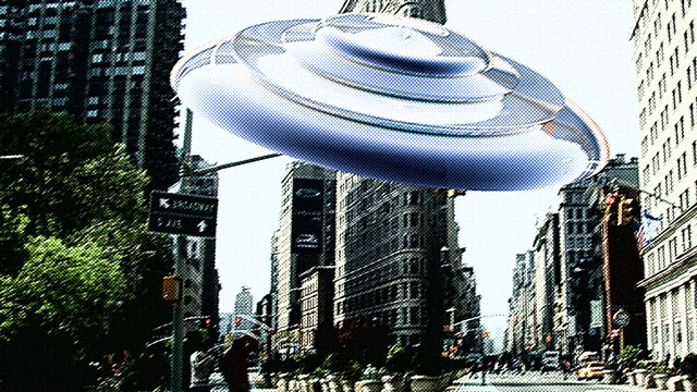 Flying Saucer Hoax in Photoshop CS6 3D