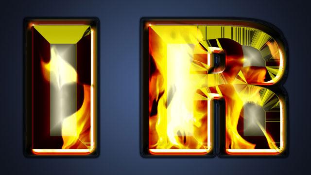 Photoshop CS7 Fiery Text Filter